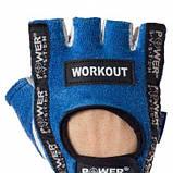 Перчатки для фитнеса и тяжелой атлетики Workout PS-2200 Blue S SKL24-145425, фото 3