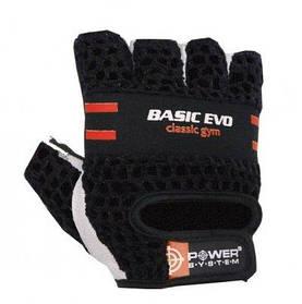 Перчатки для фитнеса и тяжелой атлетики Power System Basic Evo PS-2100 Black Red Line XS SKL24-145705