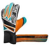 Вратарские перчатки SportVida оранжевые Size 4 латекс SV-PA0005 SKL41-160780, фото 4