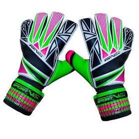 Воротарські рукавички SportVida зелені Size 6 латекс SV-PA0003 SKL41-161712