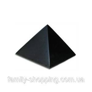 Пирамида из шунгита полированная 60х60, 150 г