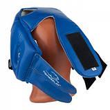 Боксерский PowerPlay шлем тренировочный cиний L 3084 SKL24-190065, фото 6