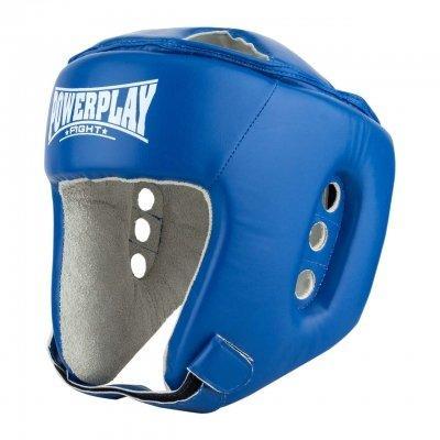 Боксерский PowerPlay шлем тренировочный cиний M 3084 SKL24-190066
