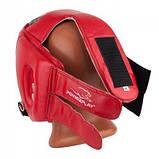 Боксерский шлем тренировочный PowerPlay красный S 3084 SKL24-190071, фото 6