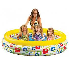 Бассейн детский, круглый, 3 кольца, 147-33 см, 330л, ненадув.дно, в кор-ке,