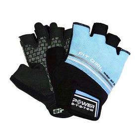 Перчатки для фитнеса и тяжелой атлетики Power System Fit Girl Evo Blue XS PS-2920 SKL24-190216