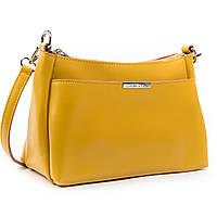 Женская кожаная сумочка-клатч 8724 yellow. Купить женский кожаный клатч недорого в Украине