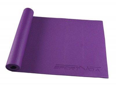 Коврик, мат для йоги и фитнеса SportVida Pvc 6 мм SV-HK0052 Violet SKL41-227101