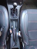 Чехол Кпп + Ручник кожаный . Комплект Опель Астра G.Комплект из натуральной кожи Opel Astra G