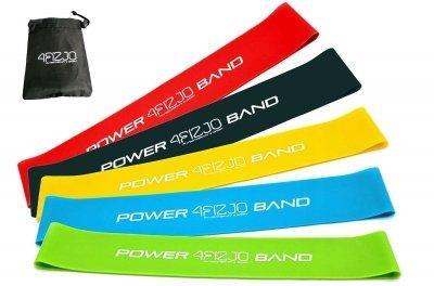 Гумка для фітнесу і спорту, стрічка-еспандер еластична 4FIZJO Mini Power Band 5 шт 4FJ1110 SKL41-227511