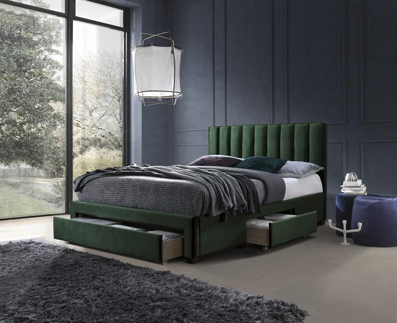 Кровать GRACE 160 с ящиками  зеленый бархат Halmar