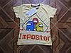 Детская модная футболка для мальчиков .6 7 лет Турция  хлопок