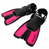 Ласты SportVida SV-DN0008JR-L Size 39-43 Black-Pink SKL41-227659, фото 3