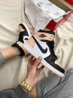 Женские кроссовки Nike Air Jordan Retro High Peach/Black/White, фото 1