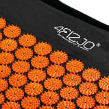 Коврик акупунктурный 4FIZJO Аппликатор Кузнецова 72 x 42 см 4FJ0041 Black-Orange SKL41-227763, фото 5