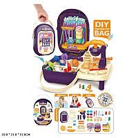 Набор для детской лепки пластилин Кондитерская мороженое, формочки, инструменты, в чемодане.