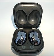 Беспроводные Bluetooth наушники вкладыши Samsung Galaxy Buds Live блютуз гарнитура черные (люкс копия 1:1)