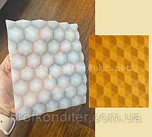 """ЭКСКЛЮЗИВ! Силиконовый коврик для шоколадного ганаша  """"Соты №1"""""""