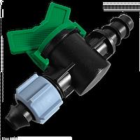 Старт-Коннектор для трубки с зажимной гайкой  та миникраном, DSWZ14-16L