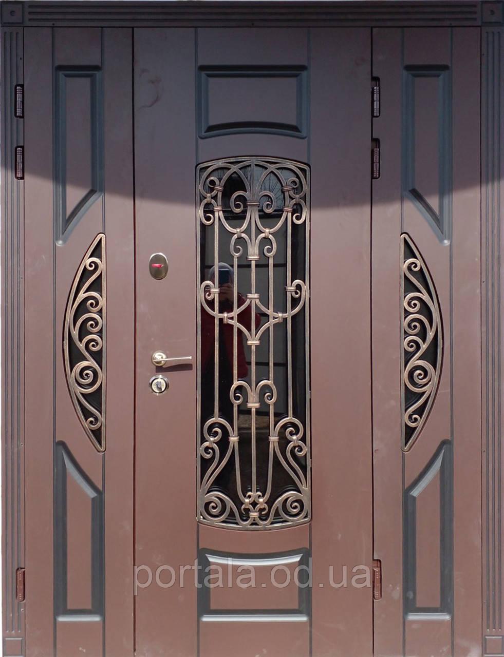 """Вхідні двері Портала Ексклюзив"""" (3-D, патина) ― модель BIG-31"""