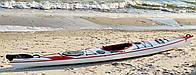 Каяк закрытый одноместный SeaBird H2O Advantage красно-белый