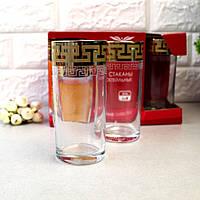 """Набір склянок для соку 290мл 6шт. """"Грецький візерунок"""" EAV03-402 (екстра золото), фото 1"""