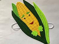 Карнавальная маска на лоб Кукуруза. Для сюжетно ролевых игр., фото 1