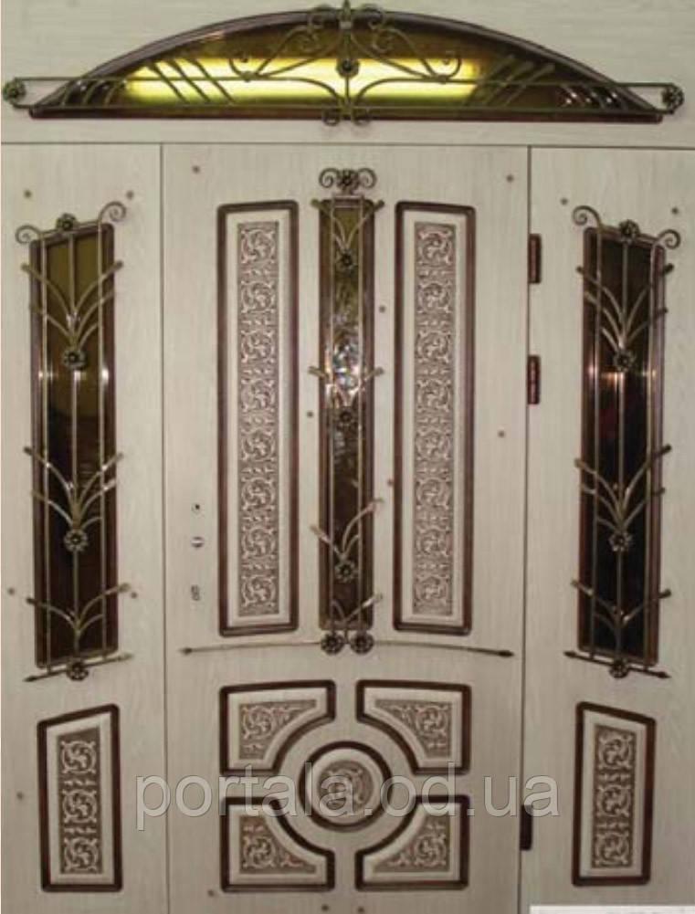"""Вхідні двері Портала Ексклюзив"""" (3-D, патина) ― модель BIG-10"""