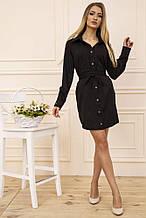 Платье-рубашка 102R043-1 цвет Черный