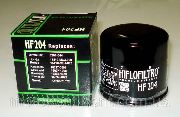 HIFLO FILTRO фільтр масляний HF204, аналог MAHLE FILTER OC575, K&N KN204, MEIWA MH1015