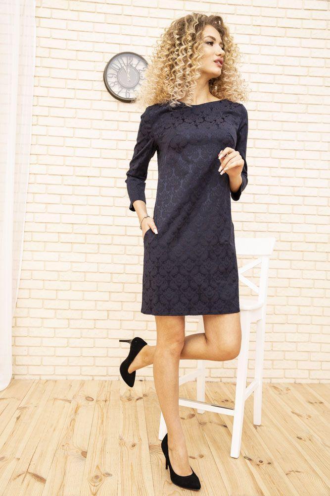 Сукня 167R996-2 колір Темно-синій