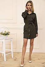 Платье-рубашка 102R043-1 цвет Хаки