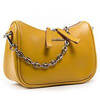 Женская кожаная сумочка-клатч 8691 yellow. Купить женский кожаный клатч недорого в Украине