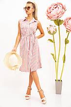 Платье-рубашка жен 102R067-1 цвет Пудрово-белый