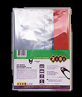 Обложки для тетрадей с клапаном ZiBi Kids Line прозрачные с цветными полями 75 мкм 5 шт/уп