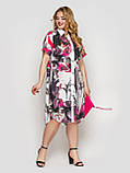 Платье-рубашка  женская Сати акварель, фото 4