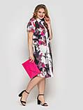 Платье-рубашка  женская Сати акварель, фото 5