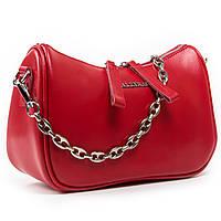 Женская кожаная сумочка-клатч 8691  red. Купить женский кожаный клатч недорого в Украине
