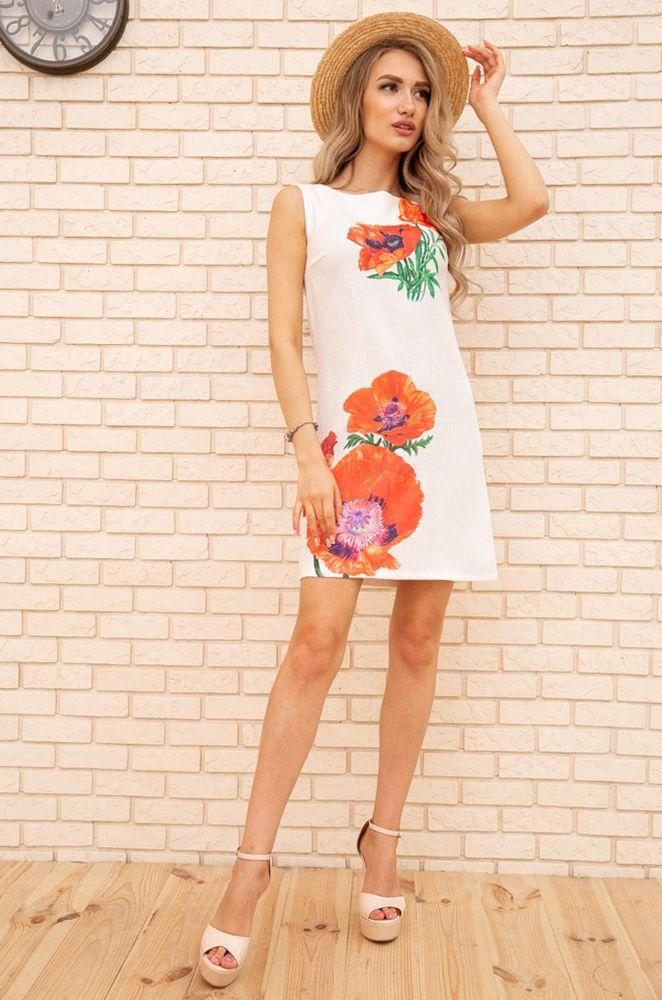 Сукня 172R019-1 колір Білий