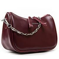 Женская кожаная сумочка-клатч 8691  l-red. Купить женский кожаный клатч недорого в Украине