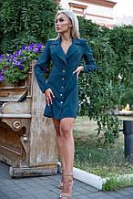 Сукня-жакет 102R080 колір Темно-зелений