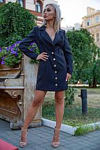 Платье-жакет 102R080 цвет Черный