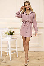 Платье-рубашка 102R043-1 цвет Пудровый