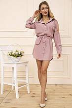 Сукня-сорочка 102R043-1 колір Пудровий 46-48