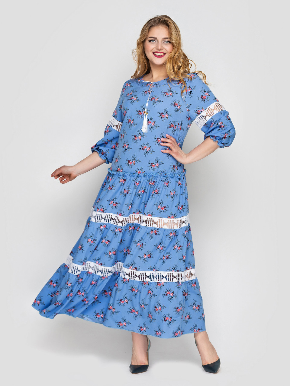 Платье макси Анна василек