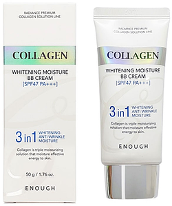 Тональный крем Enough Collagen 3 в 1 Whitening Moisture BB Cream SPF47 PA+++