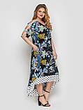Летнее платье в пол Тропикана черное, фото 2