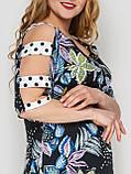 Летнее платье в пол Тропикана черное, фото 3