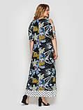Летнее платье в пол Тропикана черное, фото 4
