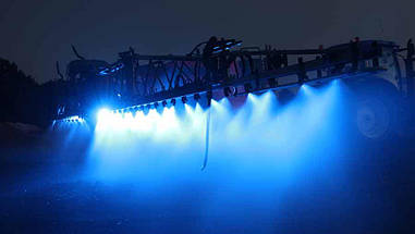 27W (9x3W/ СИНЬОГО СВІТЛА, квадратний корпус) 2700 lm LED Фара робоча 453701119 (Jubana), фото 3